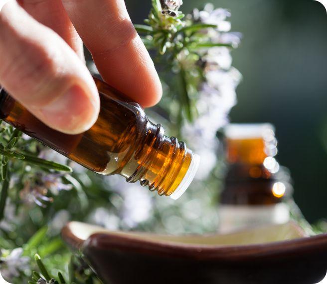 bouteille d'huile essentielle