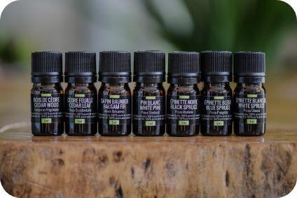 bouteilles d'huiles essentielles Arbressence